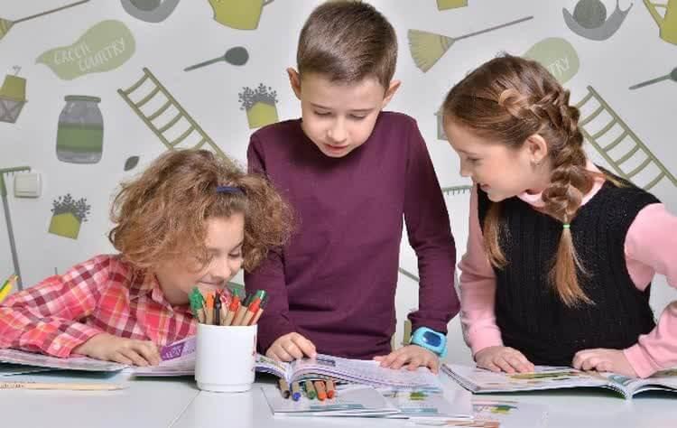 Дети на подготовительных курсах