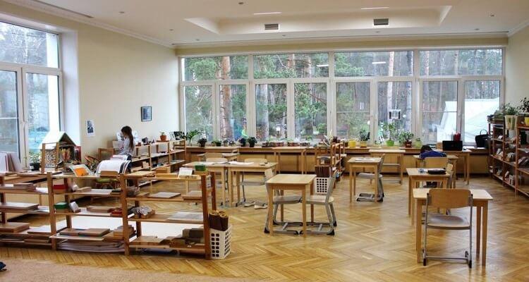 современный класс в школе