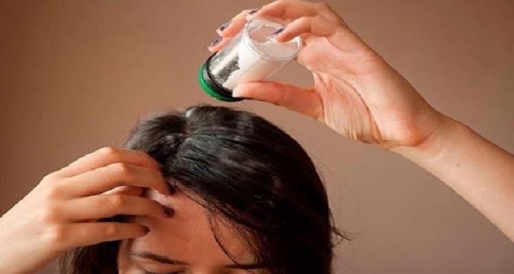 Применение талька для волос