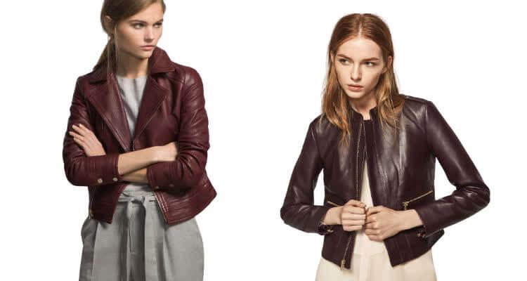 коричневая кожаная куртка женская