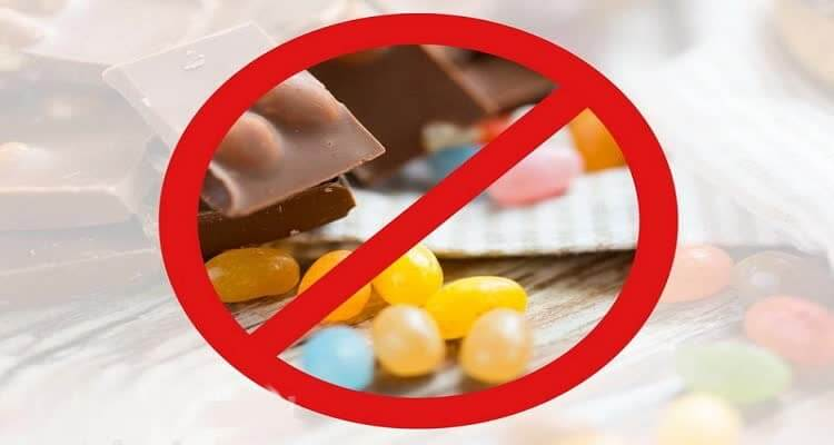 Знак запрета от заменителей сахара