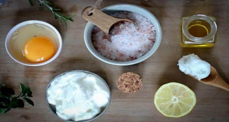 ингредиенты для чистки лица пилингом