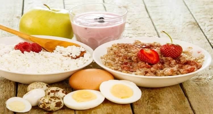 Фото продуктов на завтрак при изжоге