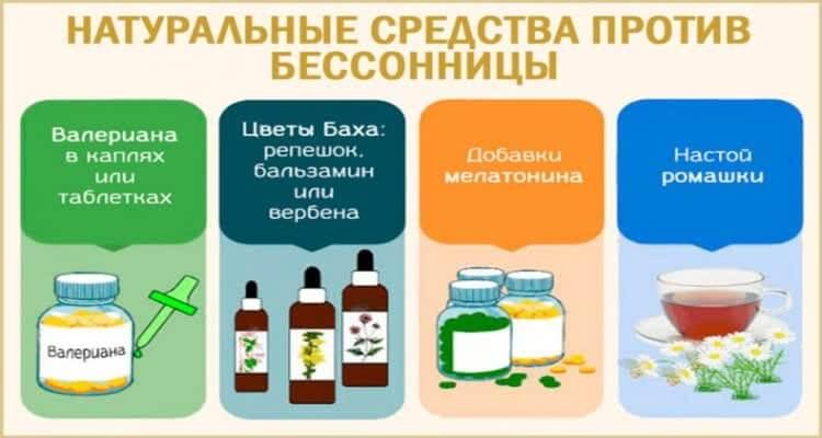 Натуральные средства против бессонницы плакат
