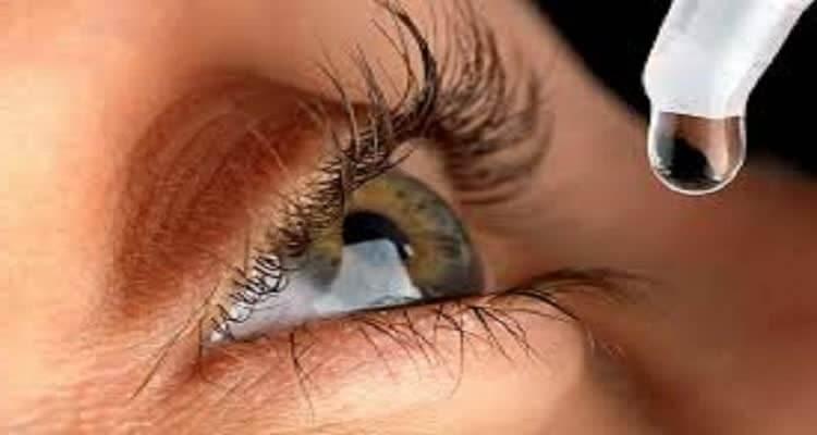 Закапывание капли для глаз